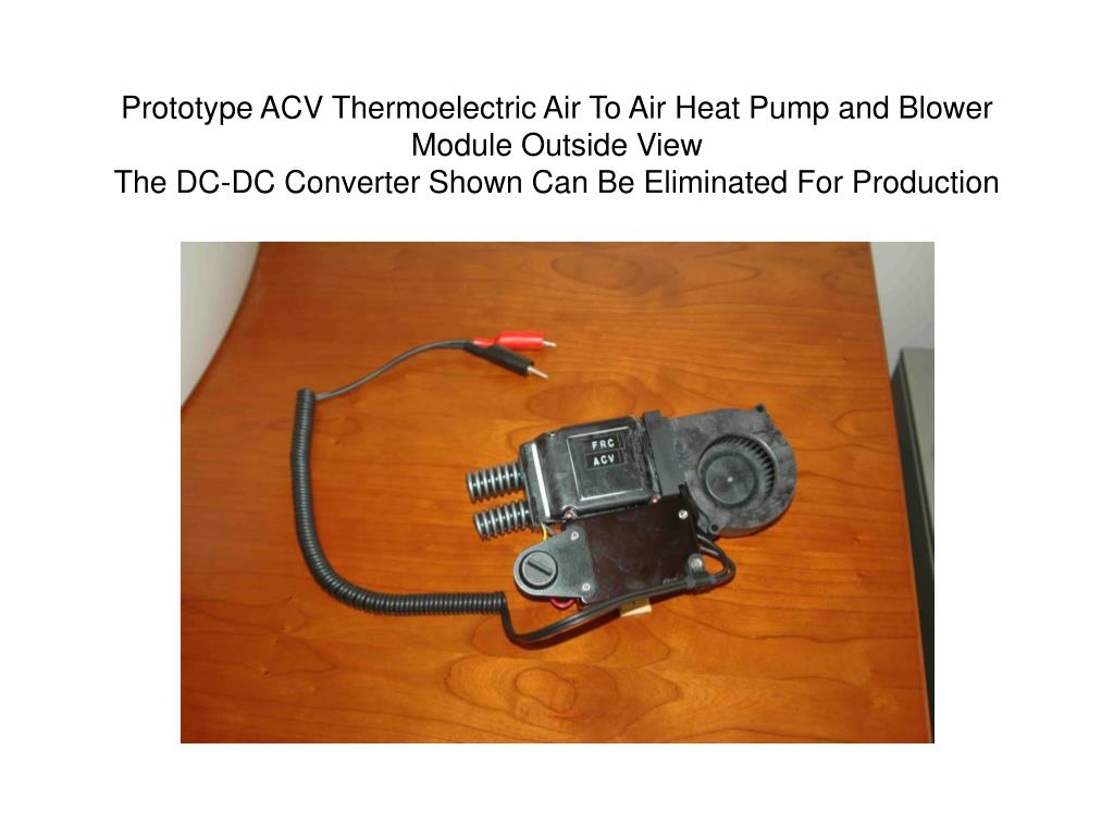 Prototype ACV Thermoelectric Air To Air Heat Pump and Blower Module Outside View