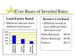 cost bases of inverted rates