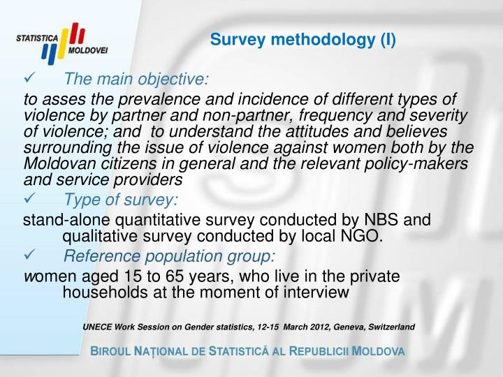 Survey methodology i