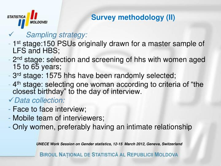 Survey methodology (II)