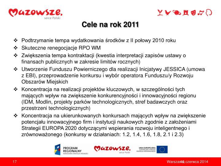 Cele na rok 2011