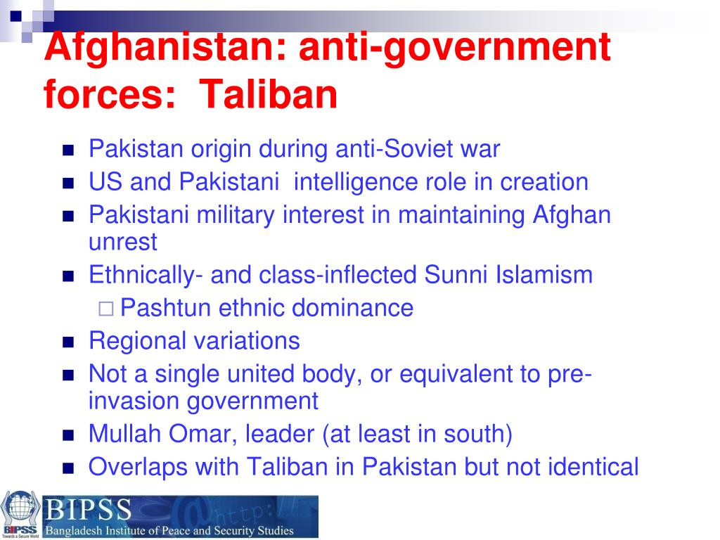 Afghanistan: anti-government forces:  Taliban