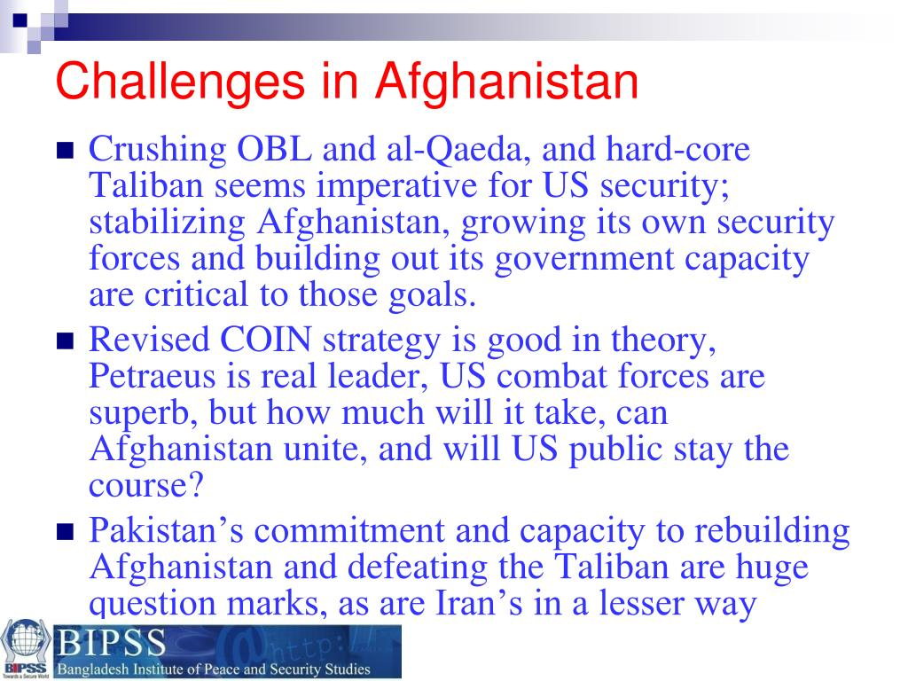 Challenges in Afghanistan