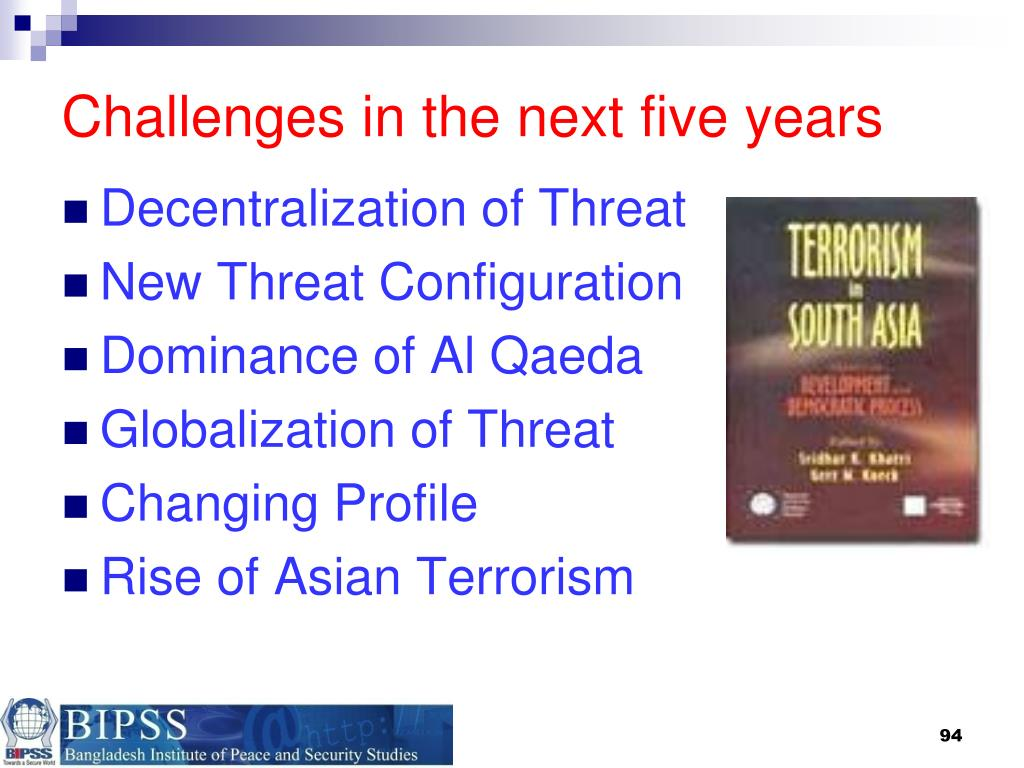 Challenges in the next five years