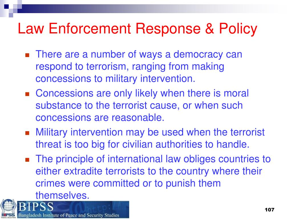Law Enforcement Response & Policy