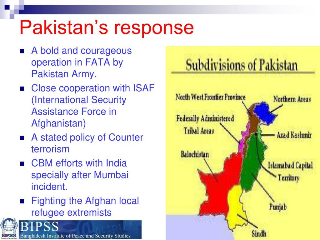 Pakistan's response