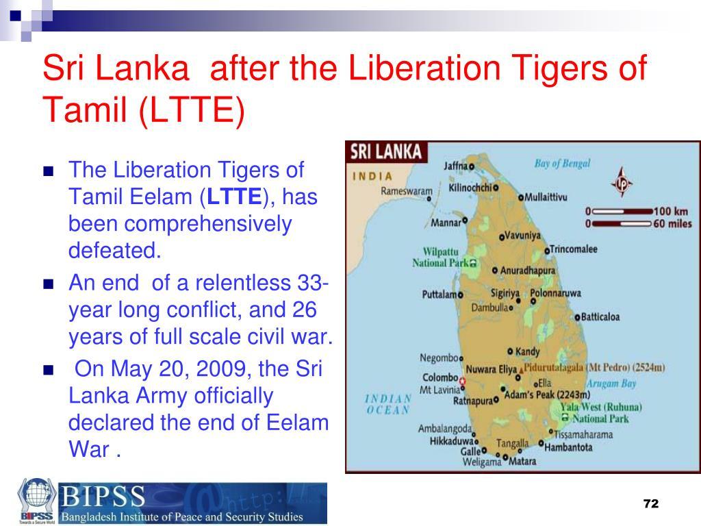 Sri Lanka  after the Liberation Tigers of Tamil (LTTE)