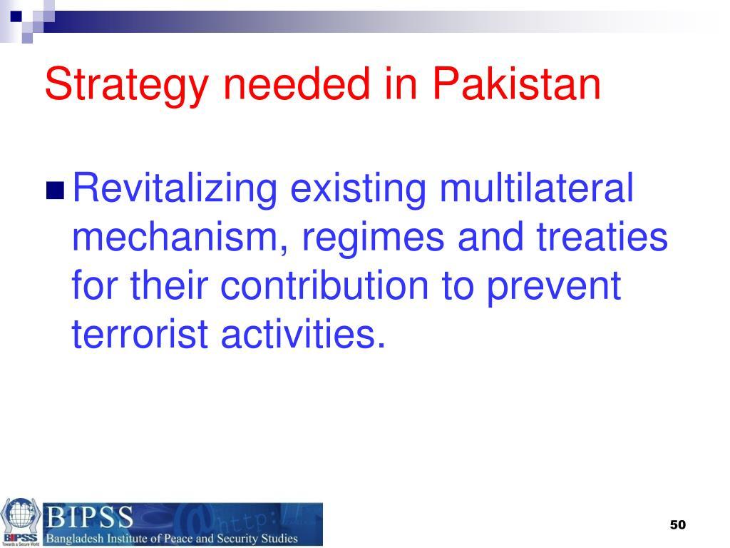 Strategy needed in Pakistan