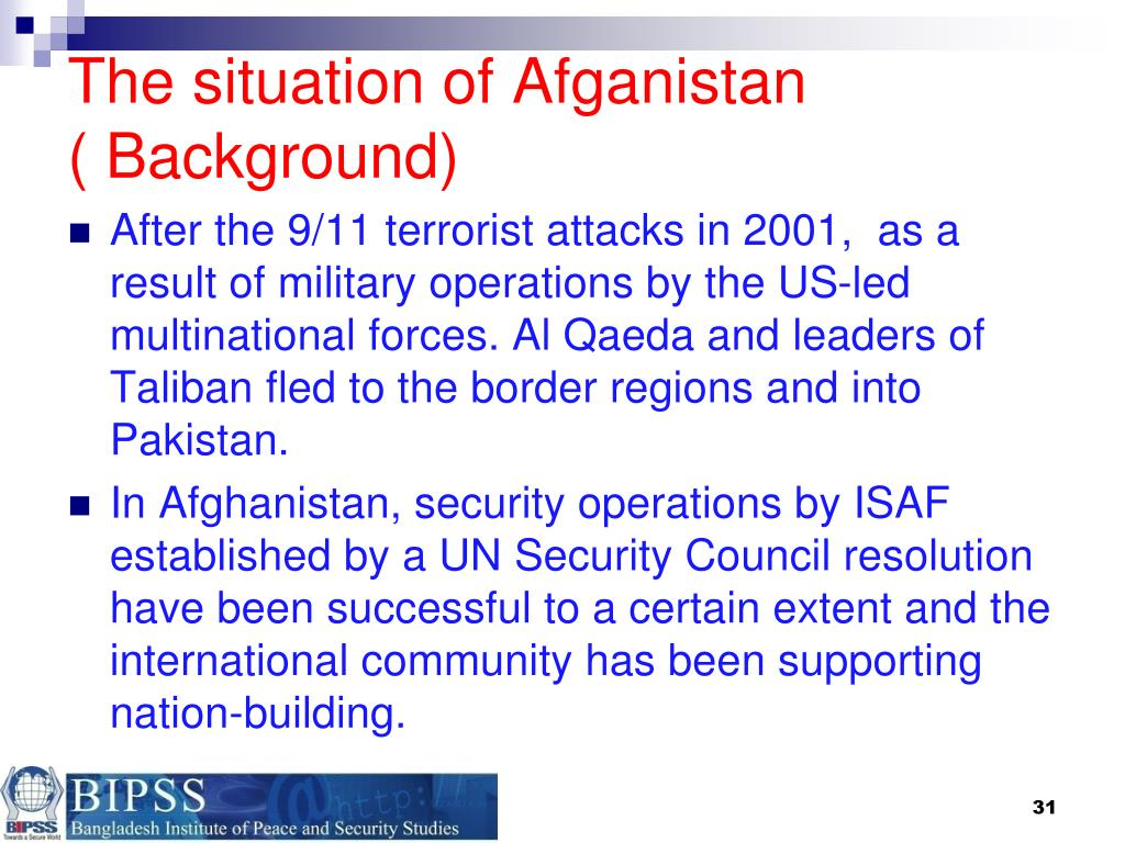 The situation of Afganistan