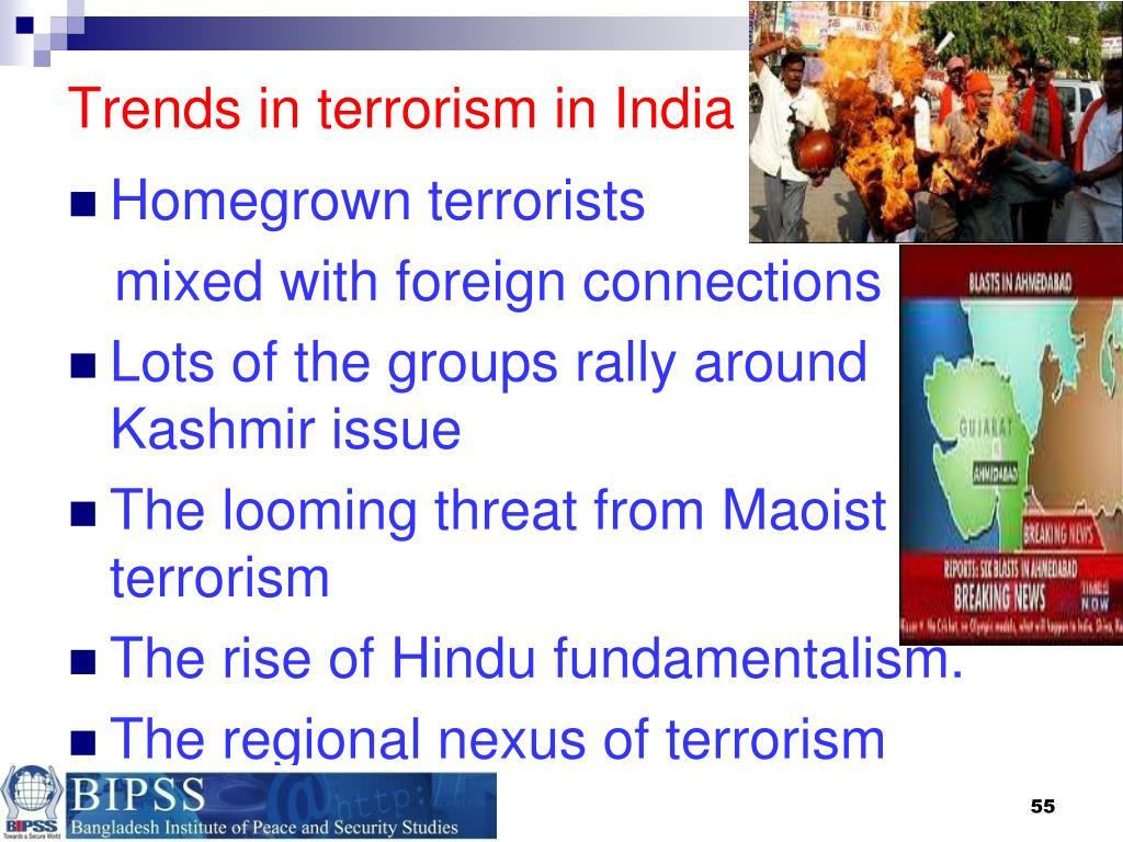 Trends in terrorism in India