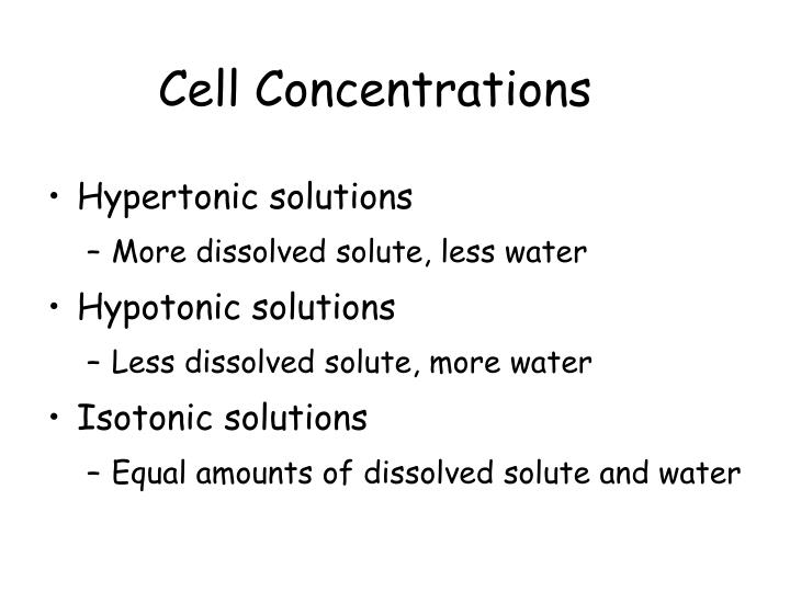 Cell Concentrations