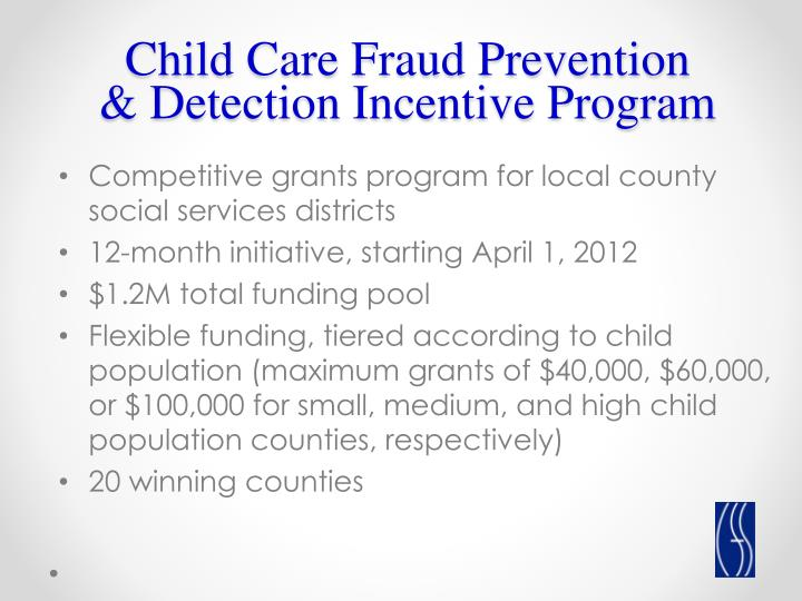 Child Care Fraud Prevention