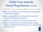 child care subsidy fraud regulations cont d1