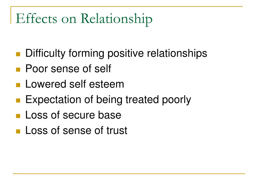Effects on Relationship