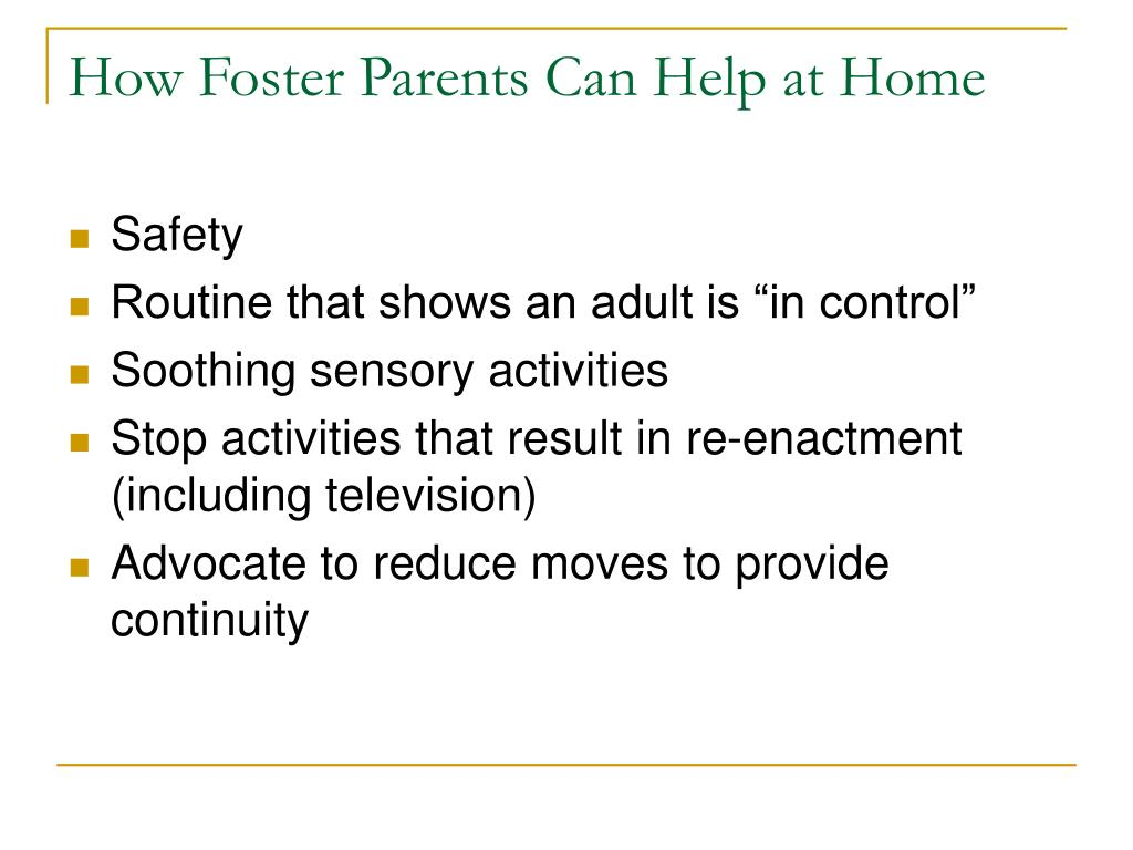How Foster Parents Can Help at Home