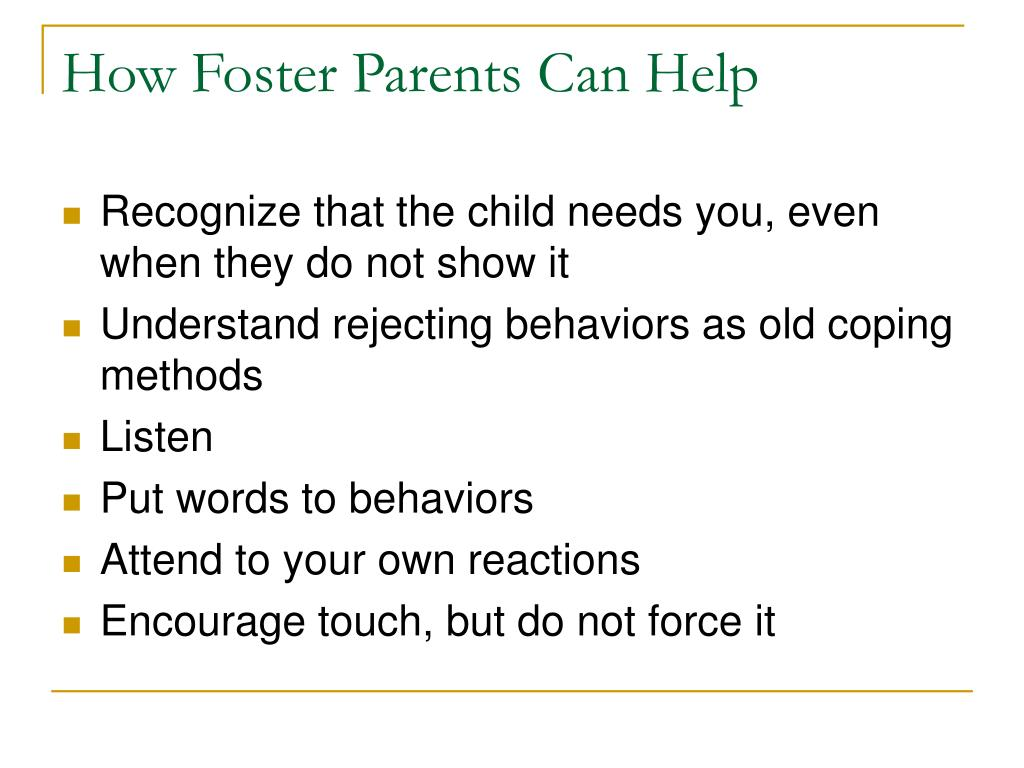 How Foster Parents Can Help