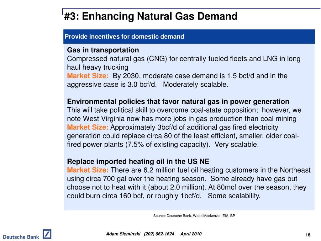 #3: Enhancing Natural Gas Demand