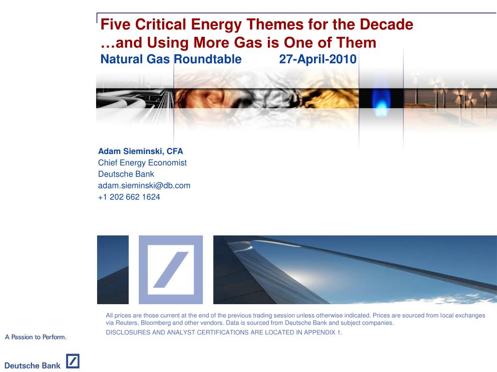 Five Critical Energy Themes for the Decade