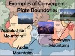 examples of convergent plate boundaries