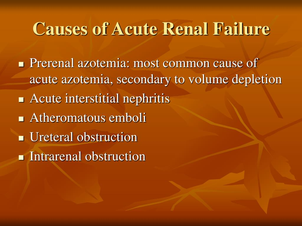 Causes of Acute Renal Failure