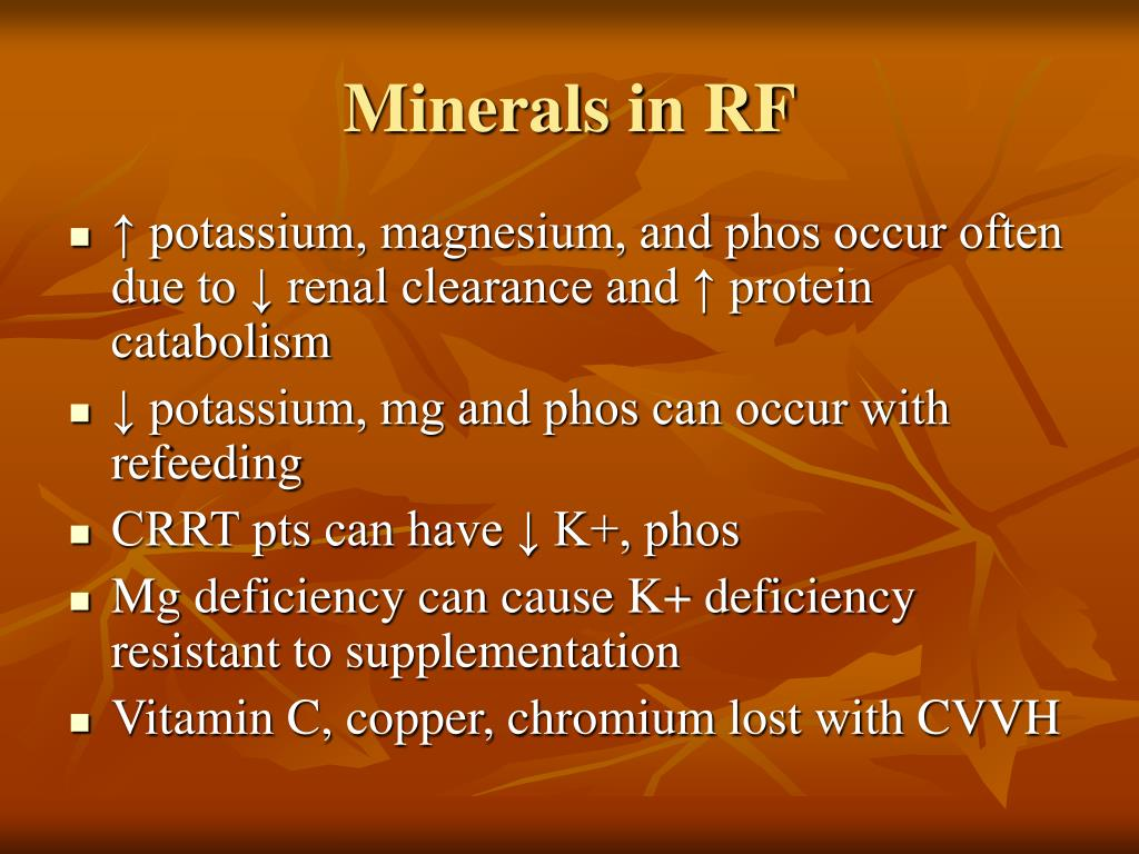 Minerals in RF