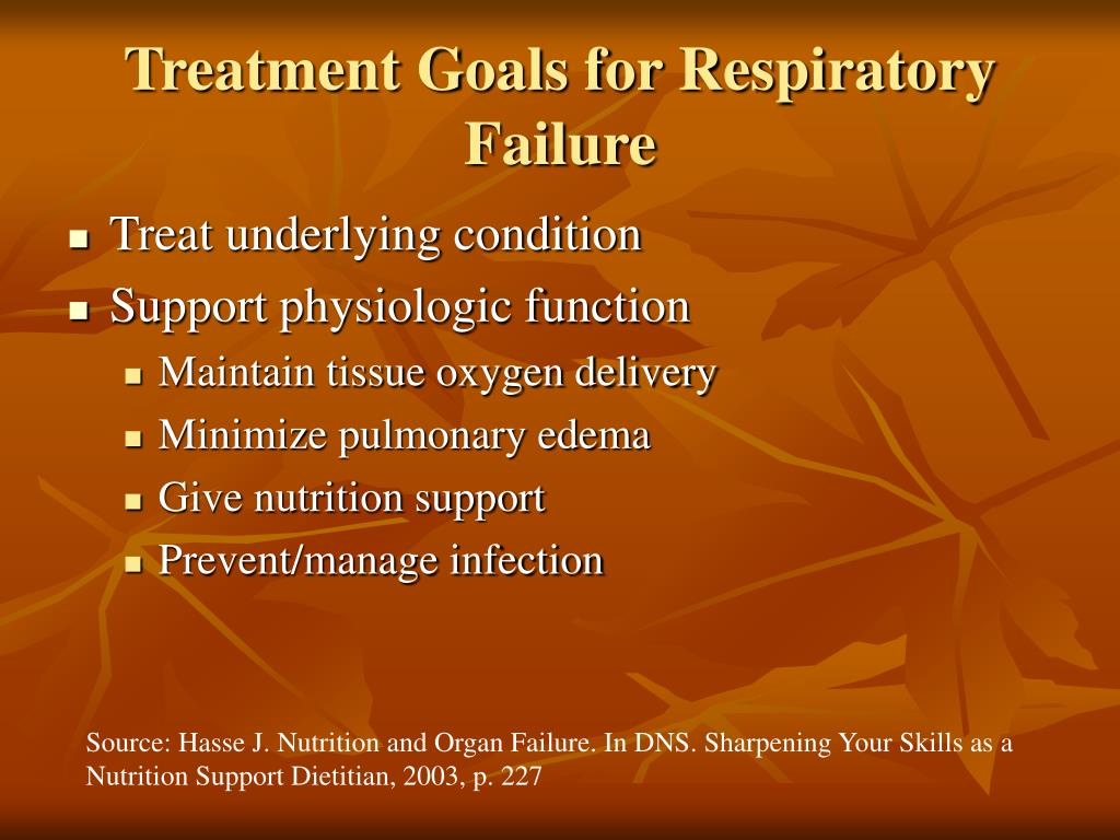 Treatment Goals for Respiratory Failure