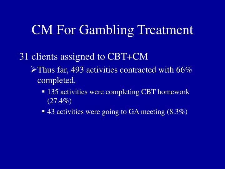 CM For Gambling Treatment