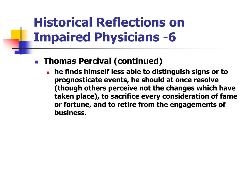 Historical Reflections on Impaired Physicians -6