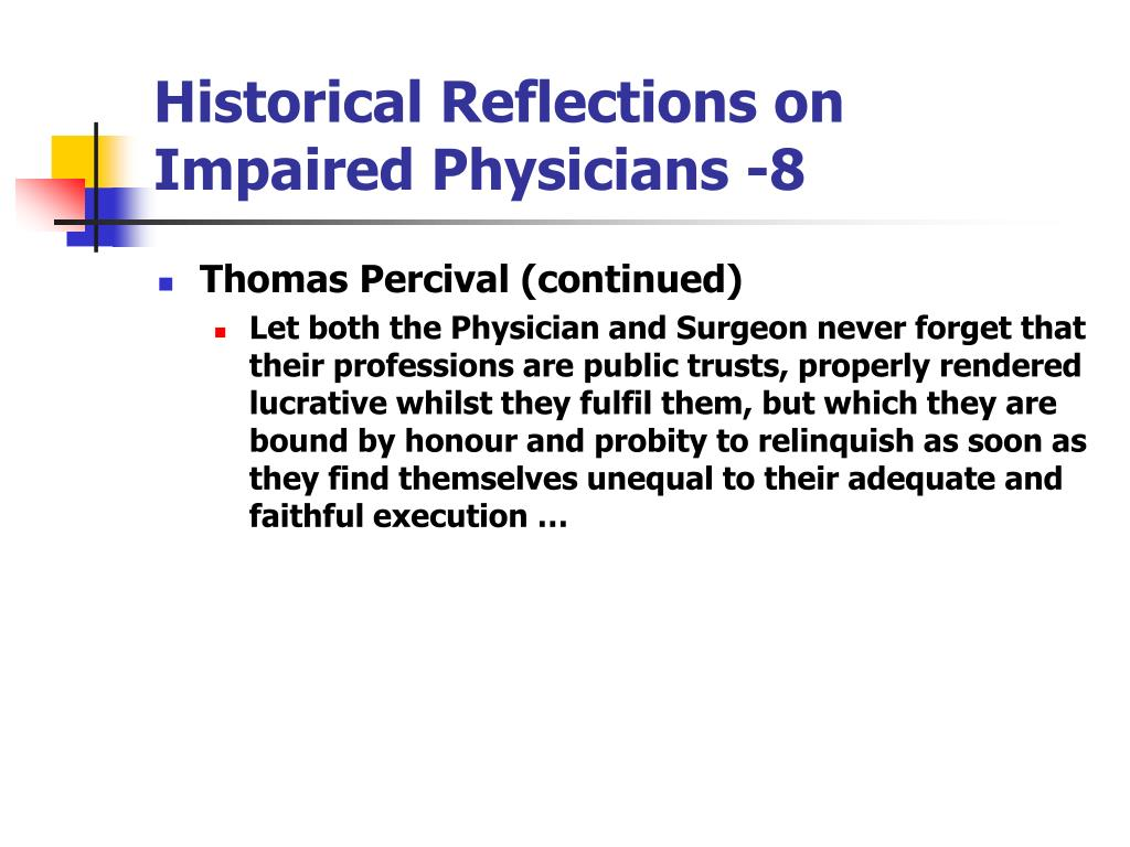 Historical Reflections on Impaired Physicians -8