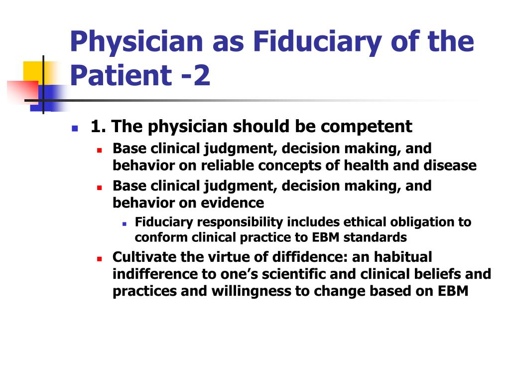 Physician as Fiduciary of the Patient -2