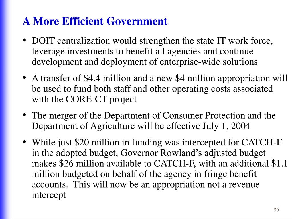 A More Efficient Government