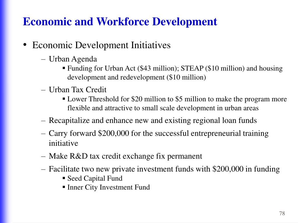 Economic and Workforce Development