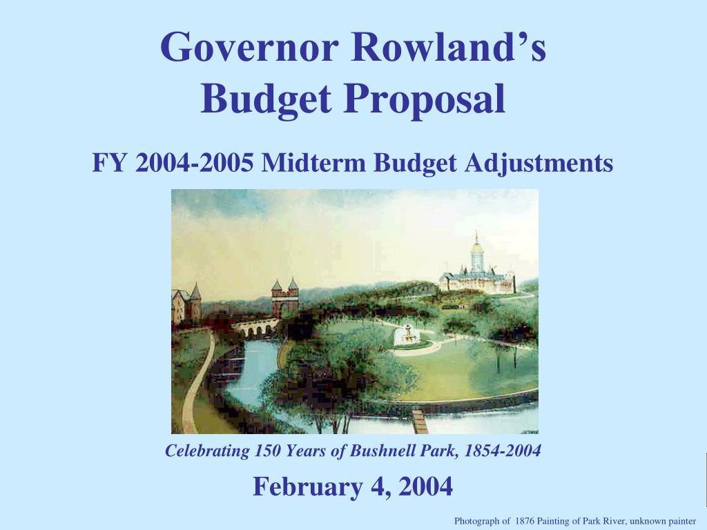 FY 2004-2005 Midterm Budget Adjustments