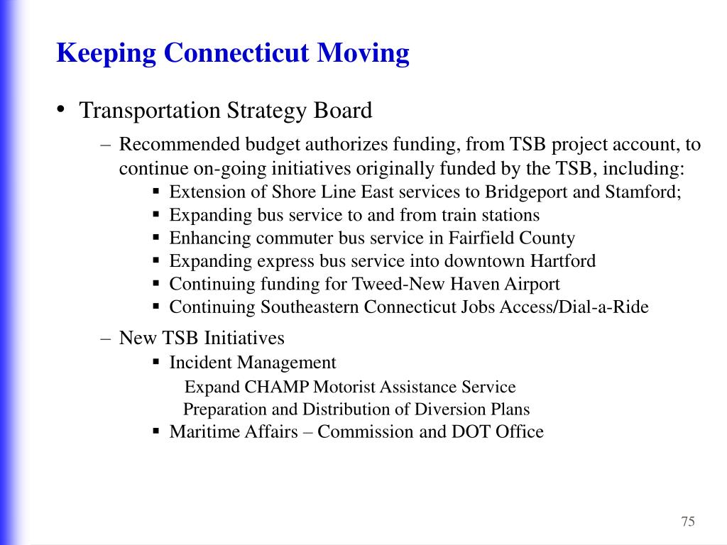 Keeping Connecticut Moving