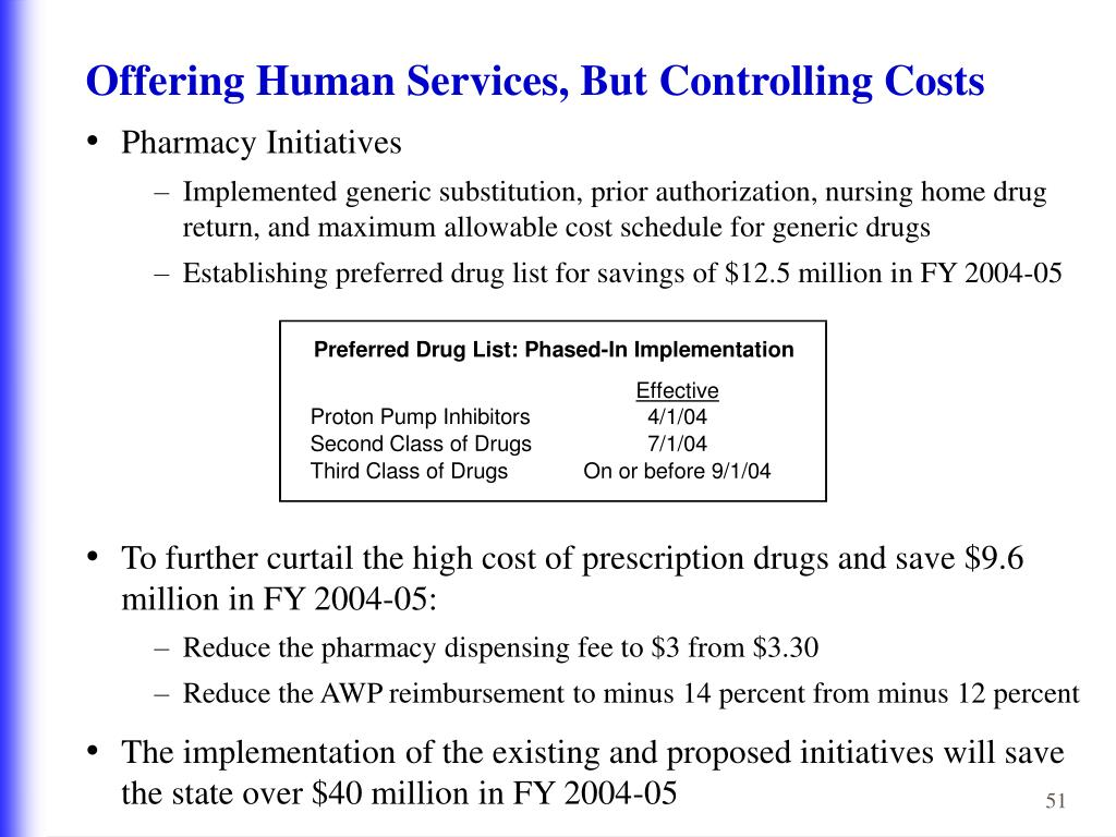 Offering Human Services, But Controlling Costs
