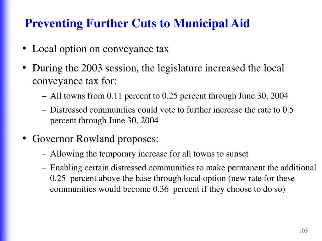 Preventing Further Cuts to Municipal Aid