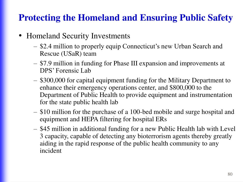 Protecting the Homeland and Ensuring Public Safety