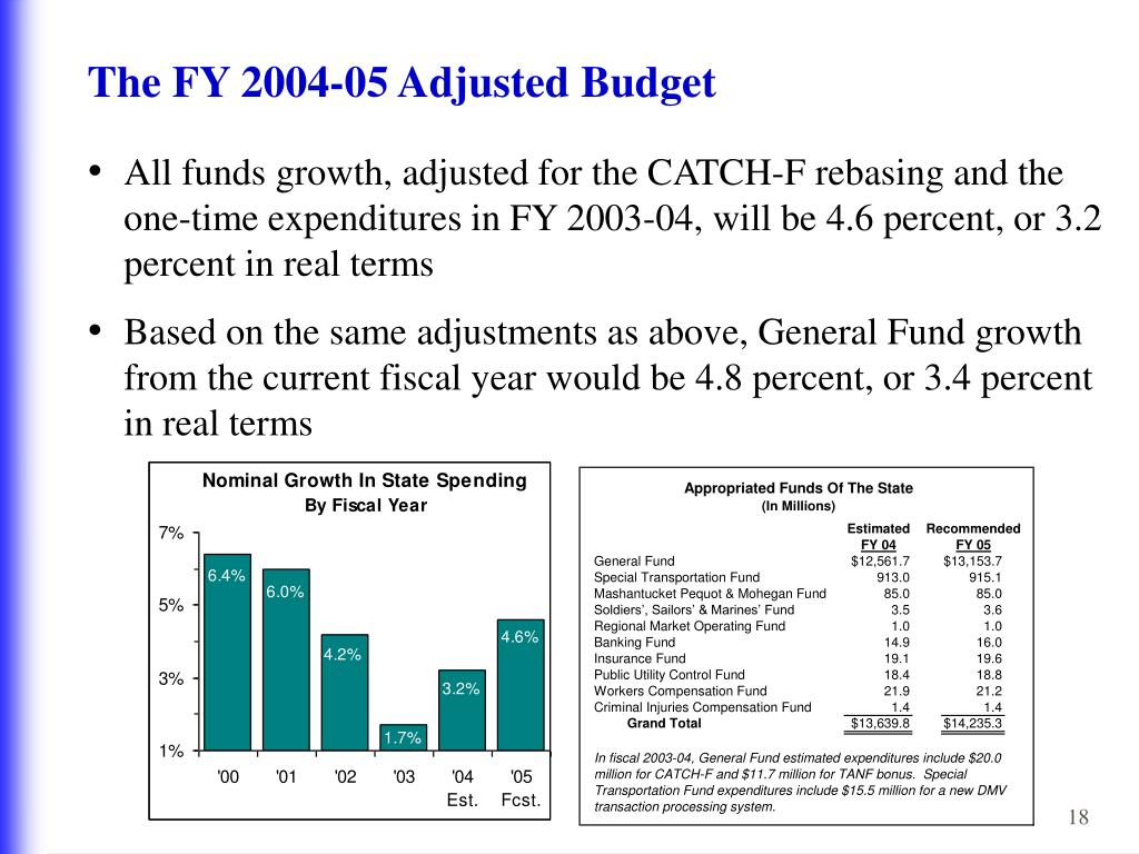 The FY 2004-05 Adjusted Budget