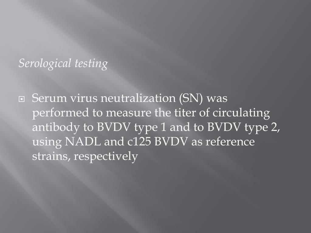 Serological testing