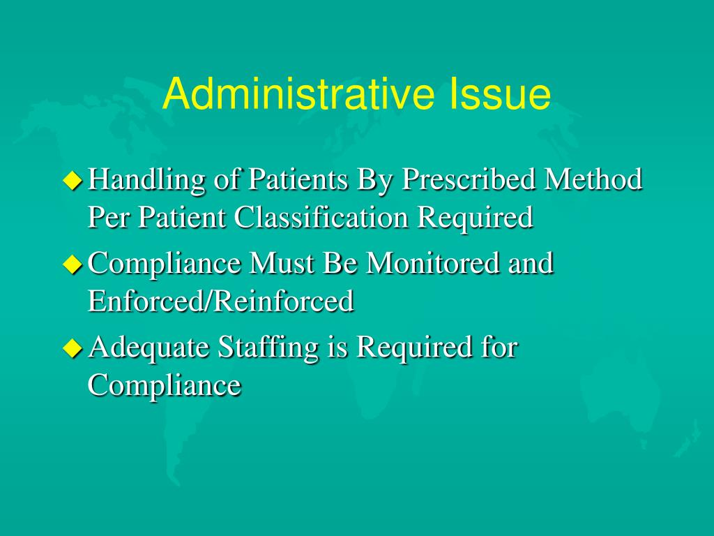 Administrative Issue