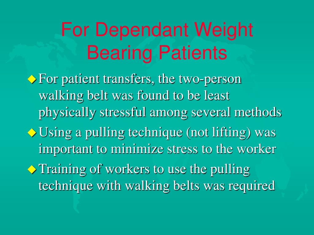 For Dependant Weight Bearing Patients