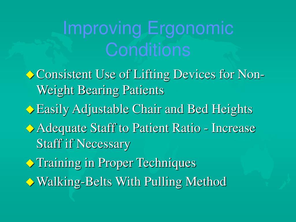 Improving Ergonomic Conditions