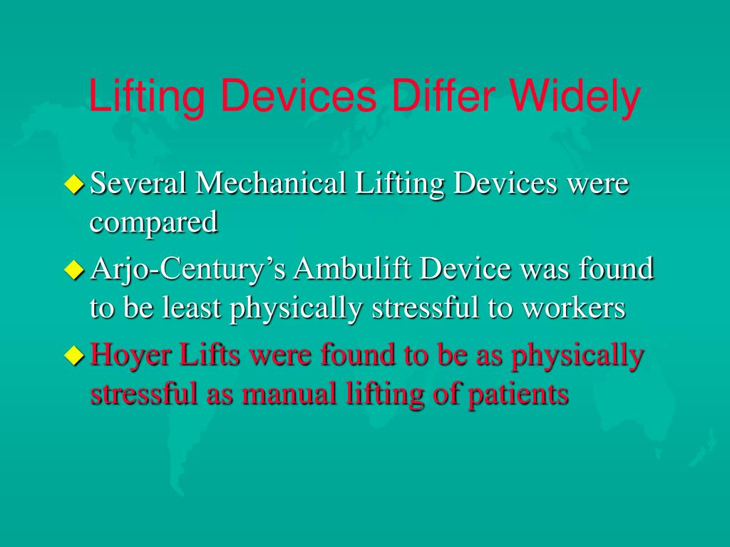 Lifting Devices Differ Widely