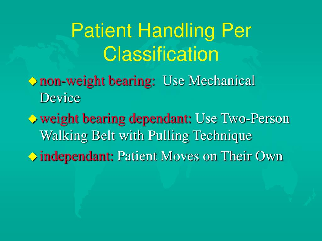 Patient Handling Per Classification