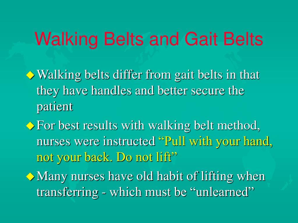 Walking Belts and Gait Belts