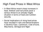 high food prices in west africa