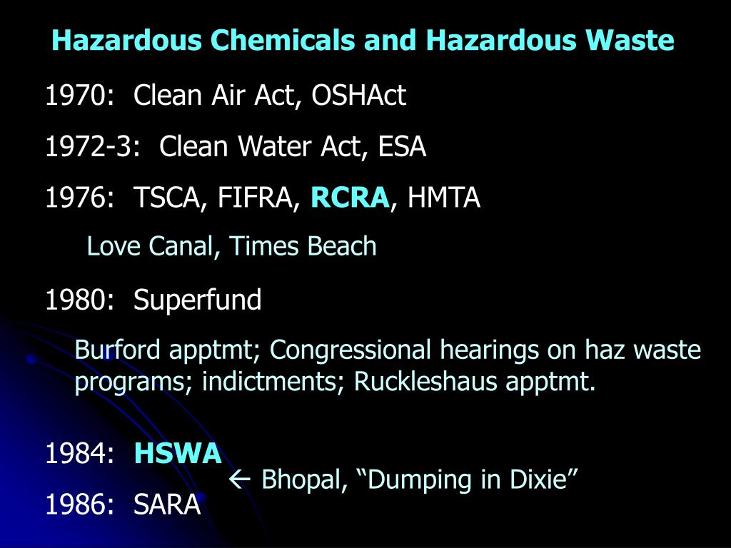Hazardous Chemicals and Hazardous Waste