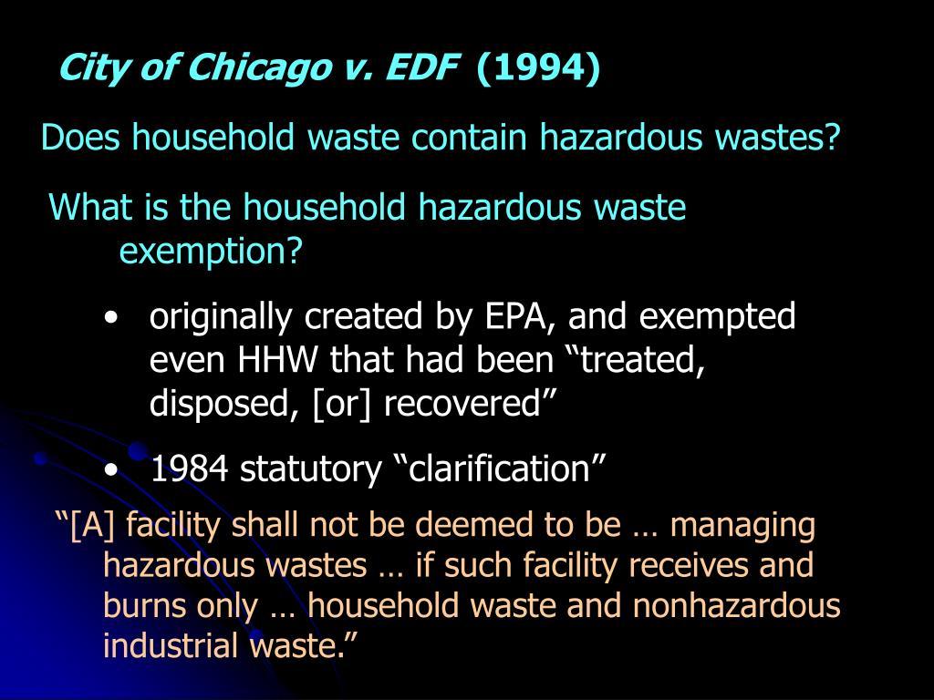 City of Chicago v. EDF