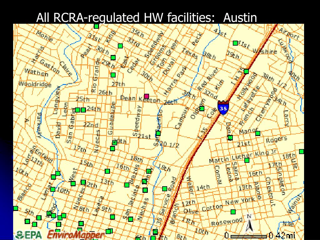 All RCRA-regulated HW facilities:  Austin