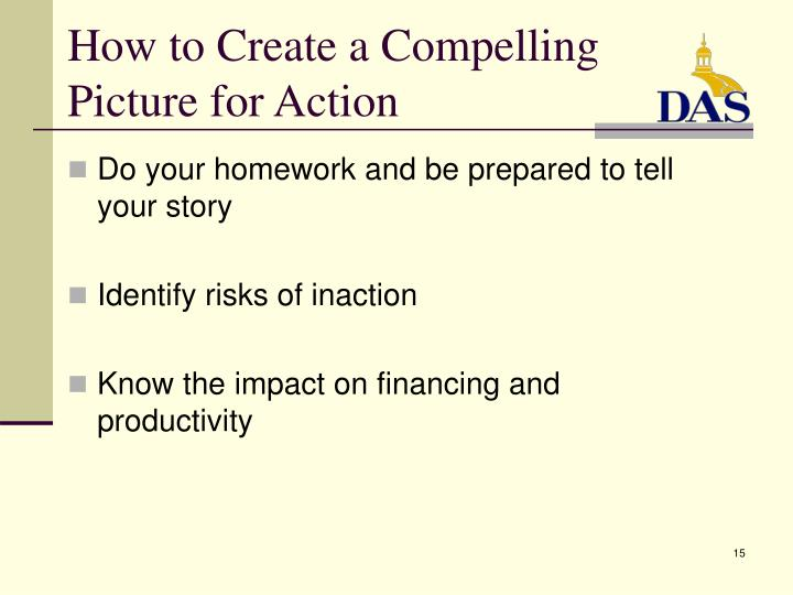 How to Create a Compelling Picture for Action